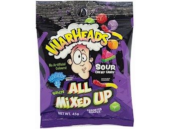 WARHEADS EXTRA SOUR MIXED UP 45GX12