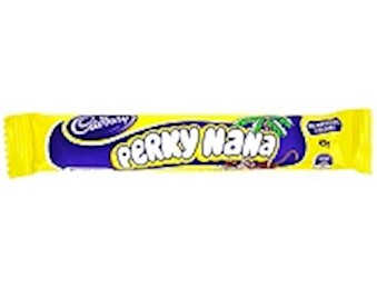CADBURY MIGHTY PERKY NANA BARS 45G