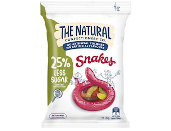 The Natural Confectionery Co SNAKES REDUCED SUGAR 260G