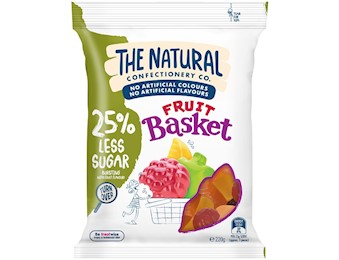 The Natural Confectionery Co FRUIT BASKET REDU SUGAR 220G