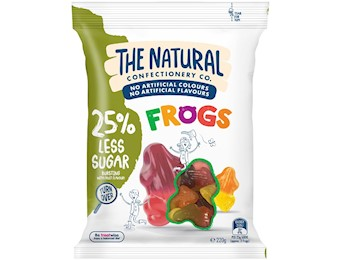 The Natural Confectionery Co FROGS REDU SUGAR 220G