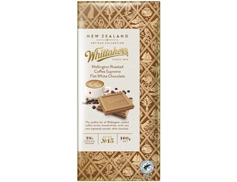 WHITTAKERS COFFEE FLAT WHITTAKERSE CHO 100G