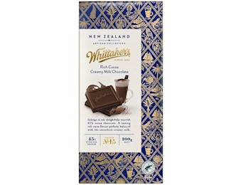 WHITTAKERS RICH COCOA CRAMY MILK 100G