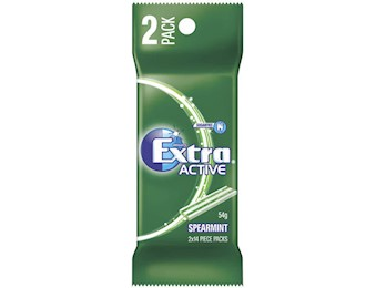EX ACTIVE SPEARMINT 2PK 54G