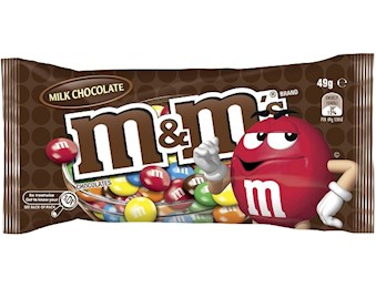 M&M'S MILK CHOCOLATE SINGLE 49G