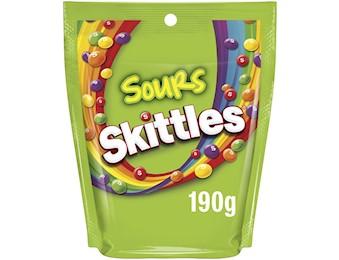 SKITTLES SOURS LARGE BAG 190G