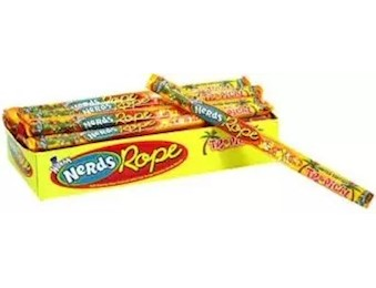 WONKA TROPICAL NERDS ROPE 26G