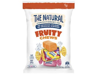 The Natural Confectionery Co FRUITY CHEWS 220G