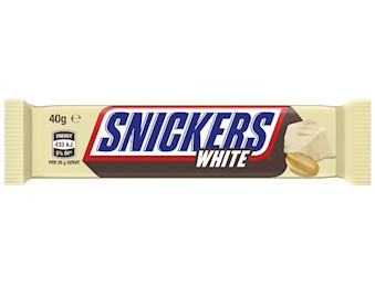 SNICKERS WHITE SINGLE 40G