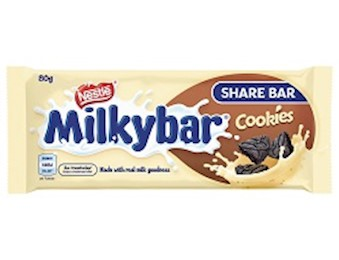 NESTLE MILKYBAR MILK & COOKIES 80G