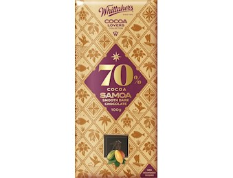 WHITTAKERS 70% COCOA SAMOA DARK 100G