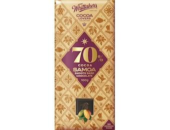 WHITTAKERS 70% COCOA SAMOA DARK 100G