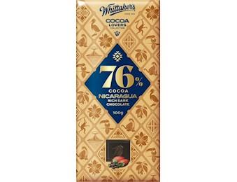 WHITTAKERS 76%NICARAGUA DARK 100G