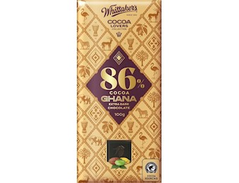 WHITTAKERS 86% COCOA GHANA DARK 100G