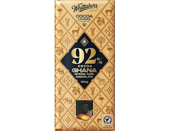 WHITTAKERS 92% COCOA GANA DARK 100G