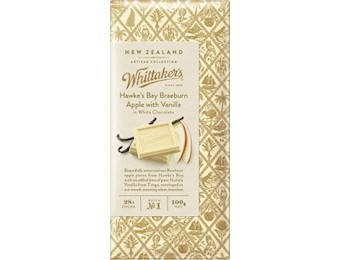 WHITTAKERS H/BAY APPLE/VAN Block 100G