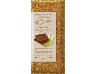 WHITTAKERS NEL PEAR MANUKA HONEY Block 100G