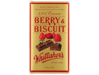 WHITTAKERS BERRY & BISCUIT BLOCK 250G