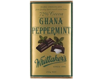 WHITTAKERS GHANA PEPPERMINT 72% Block 250G