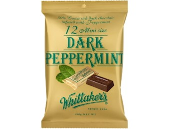 WHITTAKERS DARK PEPPERMINT MINI 180G