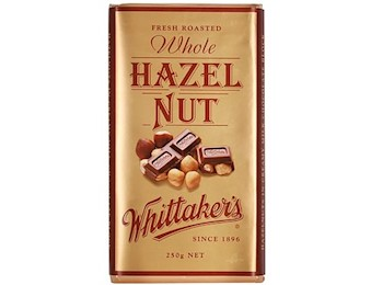 WHITTAKERS HAZEL NUT BLOCK 250G