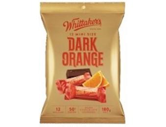 WHITTAKERS DARK ORANGE MINI 180G