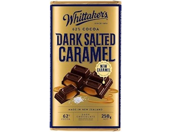 WHITTAKERS DARK SALTED CAR 62% Block 250G