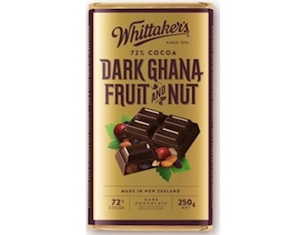 WHITTAKERS DARK GANA F&N BLOCK 250G