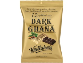 WHITTAKERS DARK GHANA MINI SLABS 180G