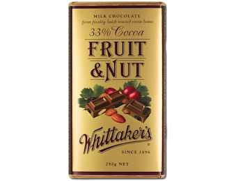 WHITTAKERS FRUIT & NUT BLOCK 250G