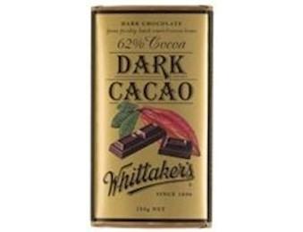 WHITTAKERS DARK CACAO 62% Block 250G