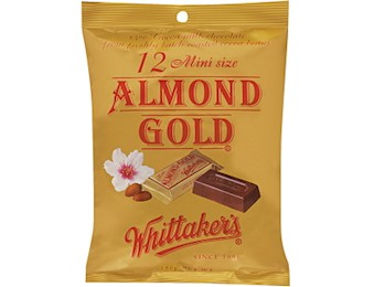 WHITTAKERS ALMOND GOLD MINI SLABS 18OG