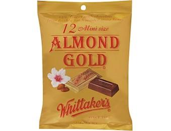 WHITTAKERS ALMOND GOLD MINI SLABS 18OG