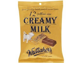 WHITTAKERS CREAMY MILK MINI SLABS 18OG