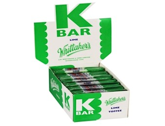 WHITTAKERS LIME K-BARS 24G