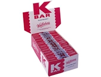 WHITTAKERS RASPBERRY K-BARS 24G