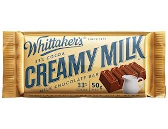 WHITTAKERS CREAMY MILK SLAB 50G