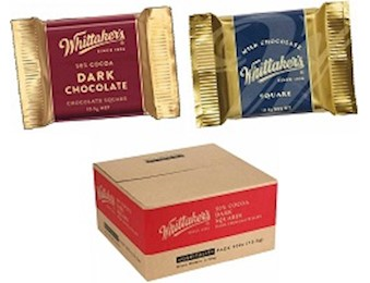 WHITTAKERS HOSPITALITY SQUARES MILK