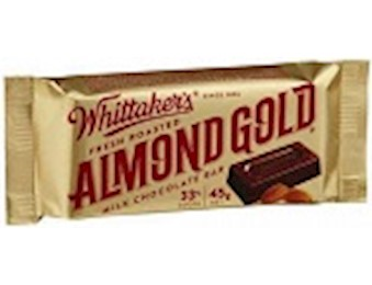 WHITTAKERS ALMOND GOLD SLAB 45G