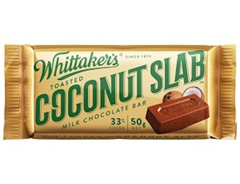 WHITTAKERS TOASTED COCONUT SLAB 50G