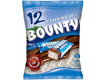 BOUNTY MILK FUNSIZE 250G