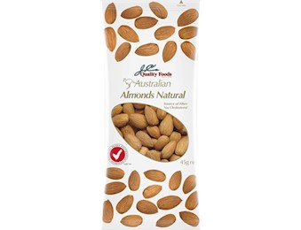 JC'S NATURAL ALMONDS 45G