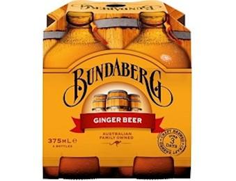 BUNDABERG GINGER BEER 375ML 4PK