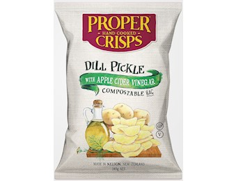 PROPER DILL PICKLE CHIPS 140G