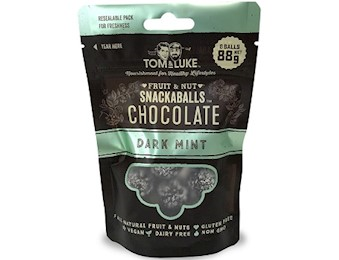 TOM & LUKE DARK MINT Chocolate Snack Balls 88G