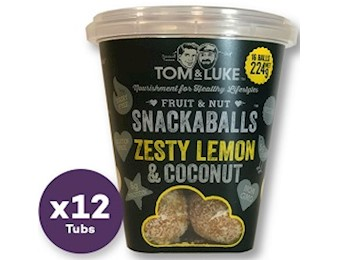 TOM & LUKE ZESTY LEMON CNUT Snack Balls 224G