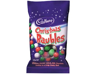 CADBURY CHRISTMAS BAUBLES 135G